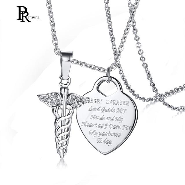 6fbc43991228 Bling Cubic Zirconia Medical Alert Choker Necklace Women Engraved Heart ID  Necklaces Pendants for Girls Nurse