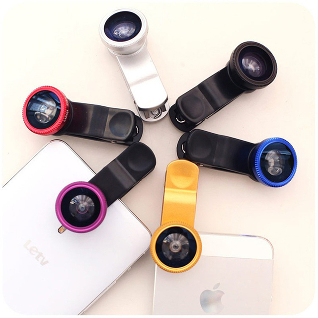 Phones Accessories Leather Mobile Phone Bags Cases Fisheye Lens Coque