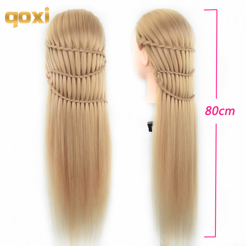 Qoxi Professional training heads with long thick hairs practice Hairdressing mannequin dolls hair Styling maniqui tete for saleQoxi Professional training heads with long thick hairs practice Hairdressing mannequin dolls hair Styling maniqui tete for sale
