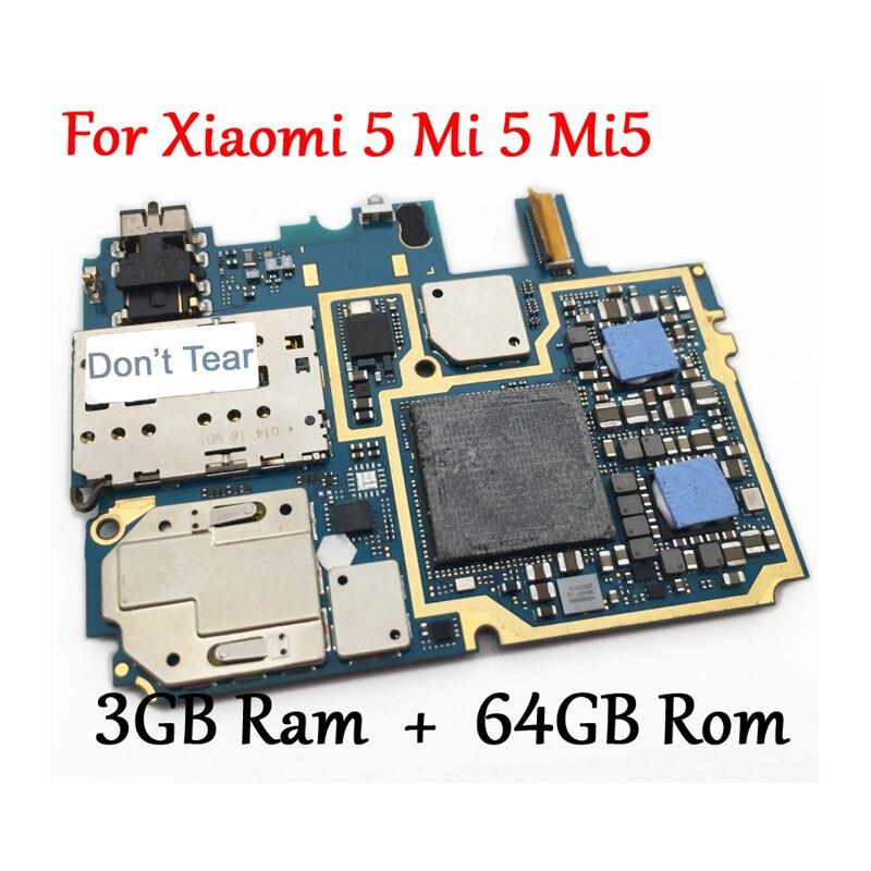 Tested Full Work Original Unlock Motherboard For Xiaomi 5 Mi 5 Mi5 M5 3GB 64GB