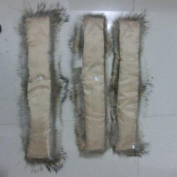 65*15 cm nouvelle mode femmes coyote bande de fourrure/vraie garniture de fourrure pour col de capuche - 6