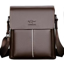 цены Luxury Brand Kangaroo Messenger Bag Men Leather Vintage Crossbody Bag For Men Business Sling Shoulder Bags Male Office Briefcase