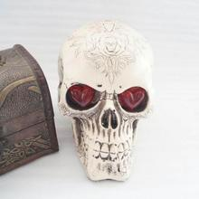 Plastic Skeleton Head Halloween Human Skull Decoration Party Scary Decorative Bone Model 3