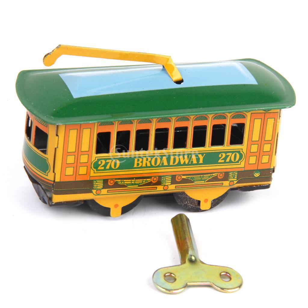 Nuovo Capretto Di Arrivo Vintage Tram Carrello Tram Di Latta Giocattolo Da Collezione Regalo Con Vento Fino Chiave Regalo Di Compleanno Del Bambino Giocattoli Per Adulto Bambino