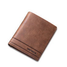 teemzone – Handmade Cowboy Simple Brown Horinzontal Verticle Long Man Leather Wallet Purse Top Genuine Leather Men's Wallet J40