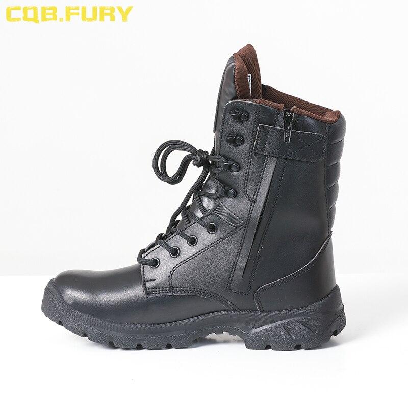 Ayakk.'ten Basic Çizmeler'de CQB. ÖFKE rahat erkek siyah askeri avcılık botları ayak bileği kayışı yaz nefes savaş asker botu yan fermuar ile ayakkabı'da  Grup 1
