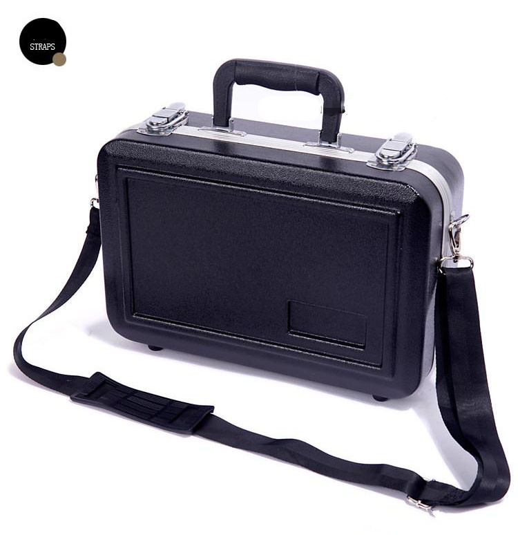 New Fashion High-grade Clarinet B Tune Abs Box Clarinet Adjustable Portable Shoulder Instrument Hard Package.