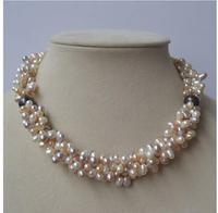 Women Gift Freshwater Jewelry pearl Real Cultured Pearl Necklace