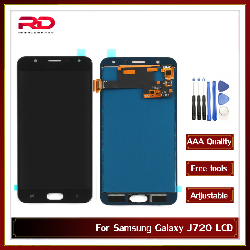For <font><b>Samsung</b></font> <font><b>Galaxy</b></font> <font><b>J7</b></font> Duo <font><b>2018</b></font> J720 J720F J720M LCD <font><b>Display</b></font> And Touch Screen Screen Digitizer Adjust Brightness +Tools image
