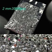 20000PCS Crystal Clear Nail Art Rhinestones 2mm size of Resin nail art rhinestones for decorations/Nail supplies