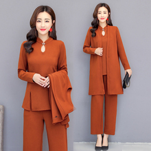 3 piece suit women outfits co-ord set 2 pants suits and top plus size large big 4xl 5xl winter autumn clothes elegant