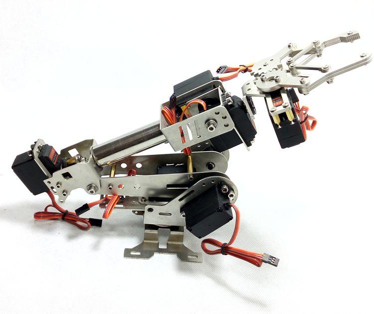 2018 Uppgraderad Version 6 Dof Arm För Intelligent Rotationsmanipulator Digital Servo Installerad Dhl Snabb Fri Frakt För Arduino