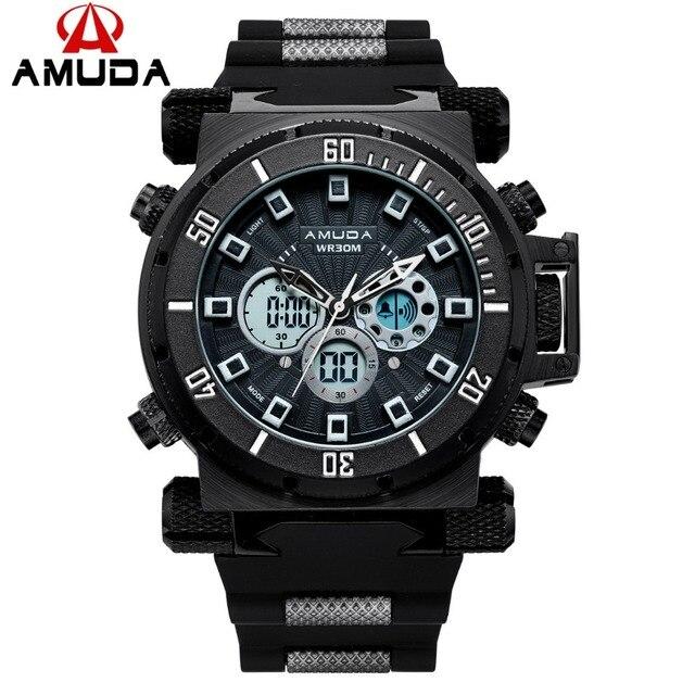 769bc6ae7d5 2018 Amuda Top Marca de Luxo Relógios de Quartzo Homens Esporte Digitais relogio  masculino De Ouro