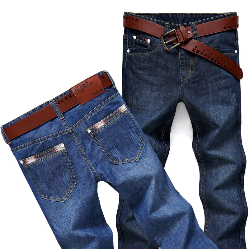 Men Slim Straight Denim Jean Fashion Trousers Spring And Winter High Quality Male Pants Casual Mens Jeans