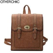 Otherchic модные женские туфли рюкзак высокое качество винтажные кожаные Рюкзаки девочек-подростков школьная сумка ранец L-7N07-93