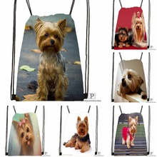 Custom Cute Yorkshire Terrier Drawstring Backpack Bag Cute Daypack Kids Satchel (Black Back) 31x40cm#180531-03-02