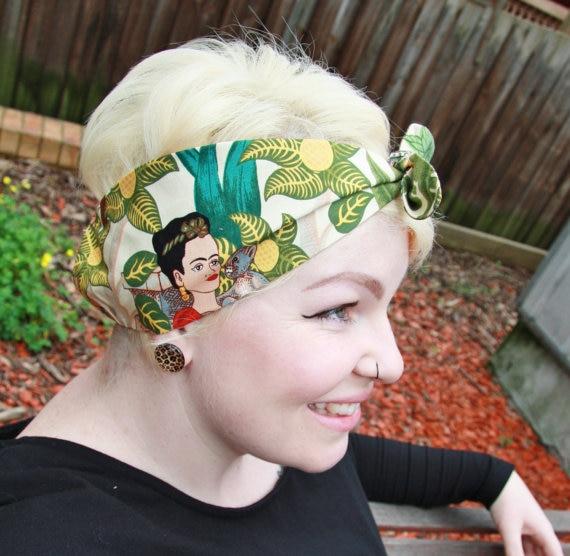 coupe classique top design quantité limitée Frauen Vintage 50 s Frida Kahlo Rockabilly Pin up Haar Zubehör Bandana  Bandeau cheveux Schal Foulard cheveux femmes Mujer in Frauen Vintage 50 s  Frida ...