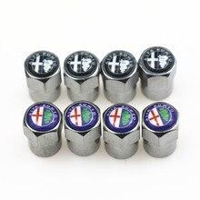 Стайлинга автомобилей Клапаны шапки чехол для Alfa Romeo MiTo 147 156 159 166 автомобиль-Стайлинг Авто покрышки стволовых воздуха Чехлы для мангала 4 шт./лот