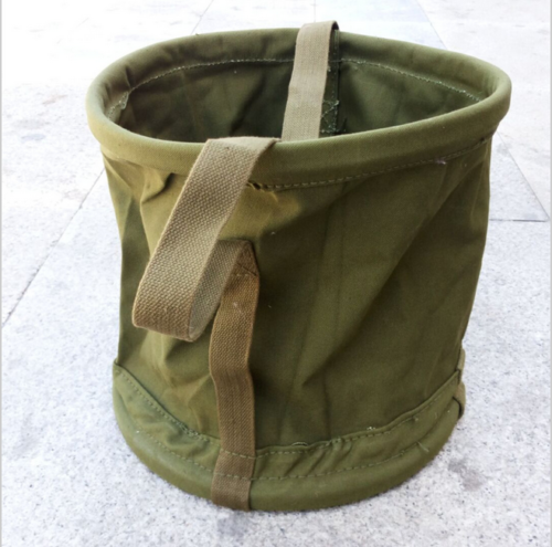 US $23 39 10% OFF|Surplus Vietnam War military PORTABLE CANVAS WATER BUCKET  OUTDOOR FISHING PAIL World military Store-in Sports Souvenirs from Sports