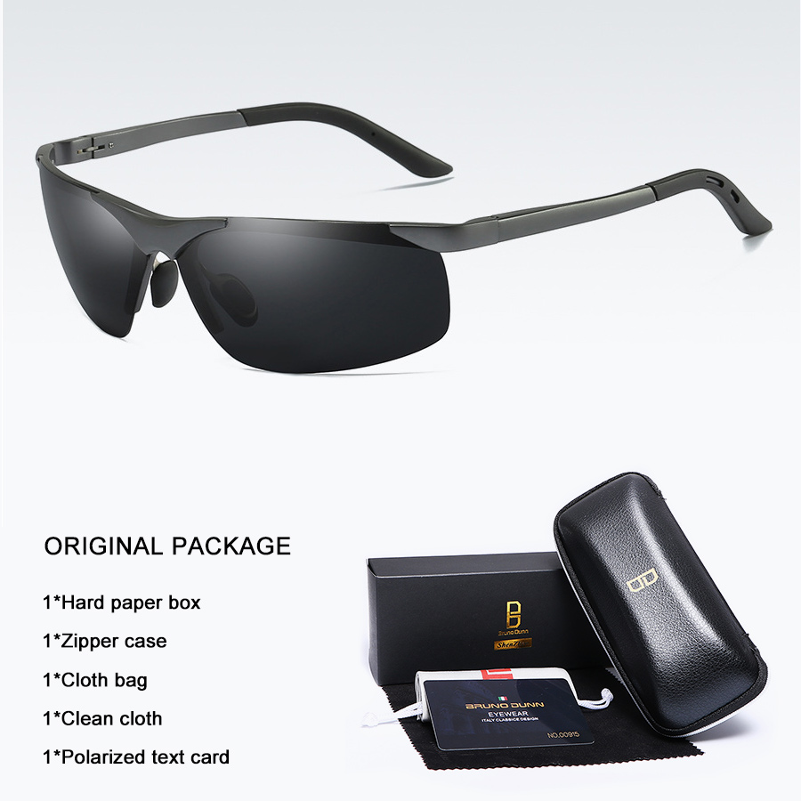 Bruno dunn 2020 Men Sunglasses Polarized uv400 high quality oculos de sol masculino oversized sunglases lunette soleil homme 15