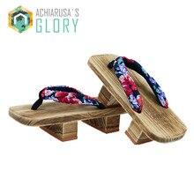 TAYUN Women Sandals 2017 summer unisex Japanese Gate flip flops Clogs wooden platform double heel cosplay costumes GETA-226