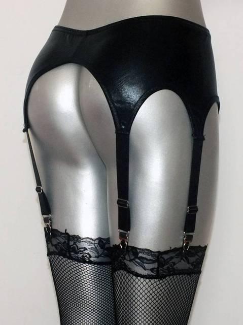 Gothic Faux Leather Garter Belt
