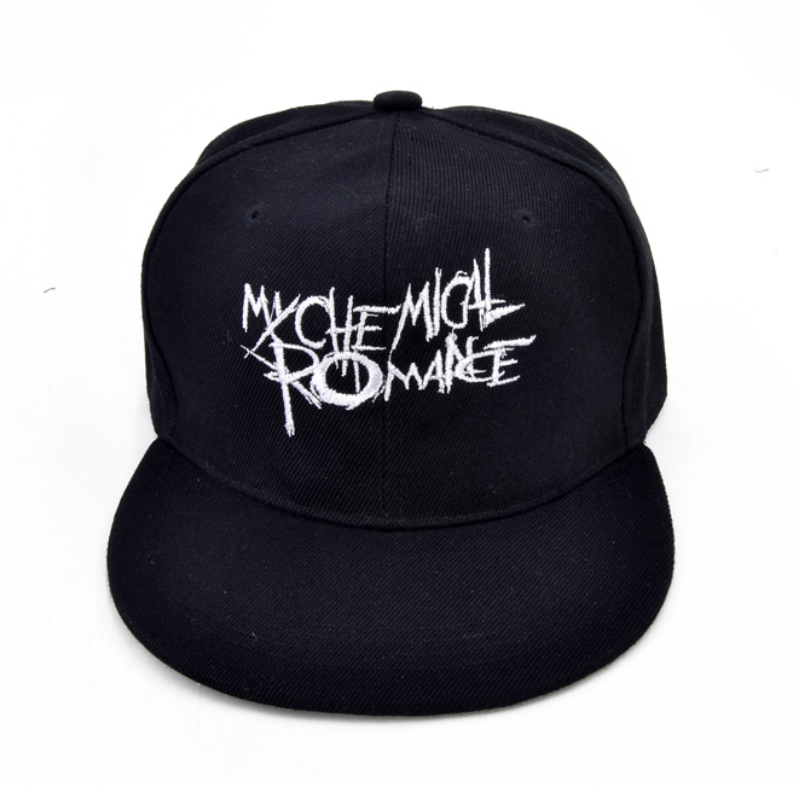 My Chemical Romance Cap La famosa americana punk Band gorra de béisbol moda indie rock sombrero tres alegrías para Sweet Revenge hueso