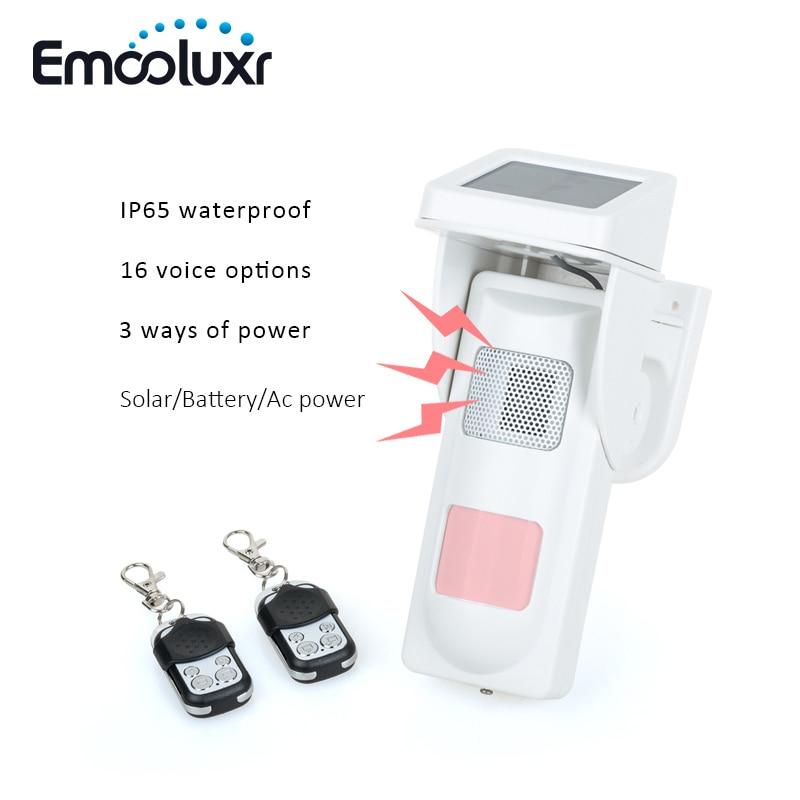 Remote Keyfob Arm Disarm On site Outdoor Security Alarm System Waterproof Pet PIR Motion Sensor Siren