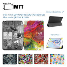 "MTT caso para ipad mini 5 2019 versión 7,9 pulgadas Slim de cuero de PU Flip Funda Smart Cover para el ipad mini 4 7,9 ""Funda Auto dormir/despertar(China)"
