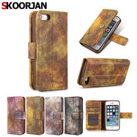 For Apple Iphone 5 5G 5S SE Luxury Retro Forest Series Leather Wallet Flip Funda Case