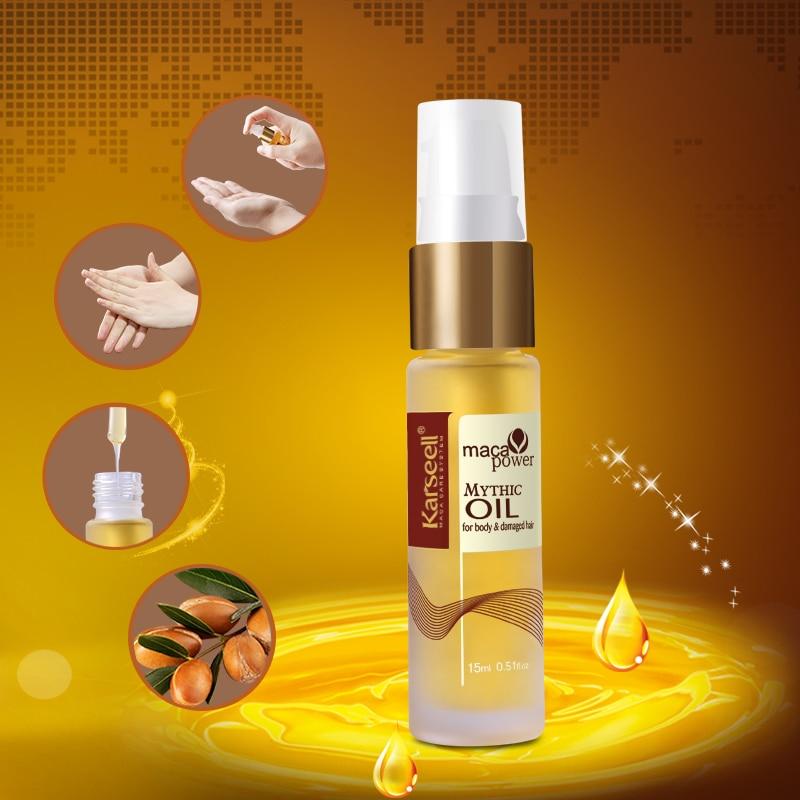 2 бөтелке Марокко Argan Oil Бас терісі Frizzy - Шаш күтімі және сәндеу - фото 2