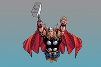 Comics Thor Mjolnir 4 Size Home Decoration Canvas Poster Print