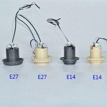 5 шт. E27 E14 пластиковая лампа весь зуб/провод 30 см/80 см/E27 розетка/E14 лампа база аксессуары для освещения