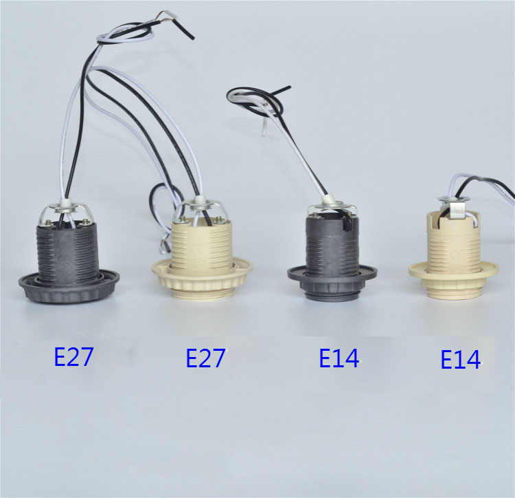 5PCS E27 E14  plastic lamp whole tooth / wire 30cm/80cm / E27 socket / E14 lamp base Lighting Accessories