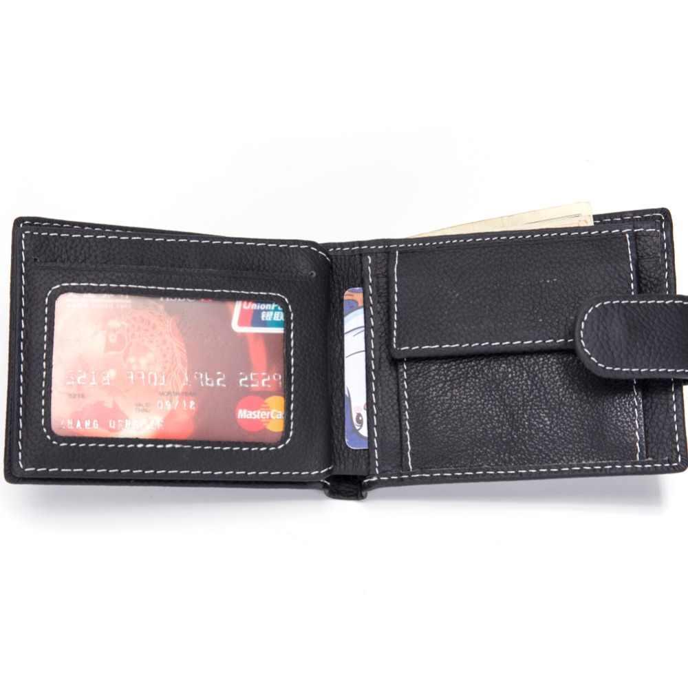 Мужские кошельки по цене доллара, натуральная коровья кожа, кошельки известного бренда с карманом для монет, тонкий кошелек, держатель для карт, модный тонкий кошелек