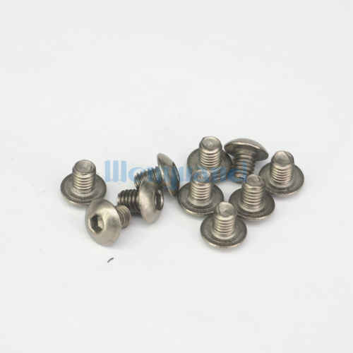20 M5 x 15mm GR2 Titanium Hex Socket Dome Cap Screw Bolt Anti Acid Corrosion