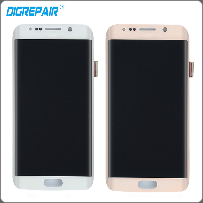 5 1 inch golden white LCD display touch screen digitizer full Assembly replacement parts for Samsung
