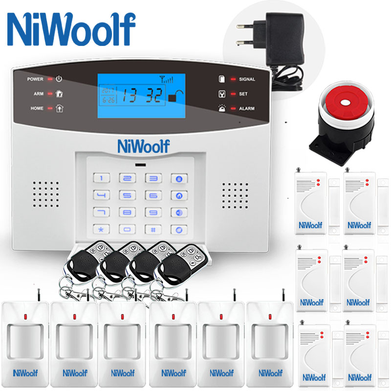 Wireless GSM Alarm System Home Burglar Security Keyboard LCD Menu Display 433MHz Support Russian French Spanish