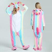 Cute Unicorn Pajamas Autumn Winter Women Homewear Unicornio Adult Pijama Cartoon Animal Pajamas Boy Girl Sleepwear
