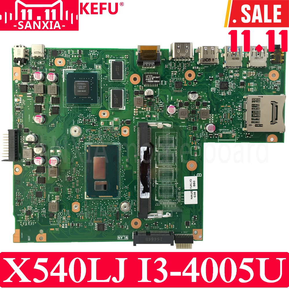все цены на KEFU X540LJ Laptop motherboard for ASUS X540LJ X540L F540L X540 Test original mainboard I3-4005U GT920M