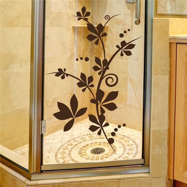 Vinyl Wall Decals Floral pattern Bathroom Bathtub Wall stickers Home ...