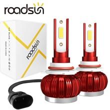 Roadsun LED de phare de voiture H4 H7 H1 9005 9006 H11 6000K Auto voiture phares ampoules 35W 12V 8000LM voiture style led automotivo
