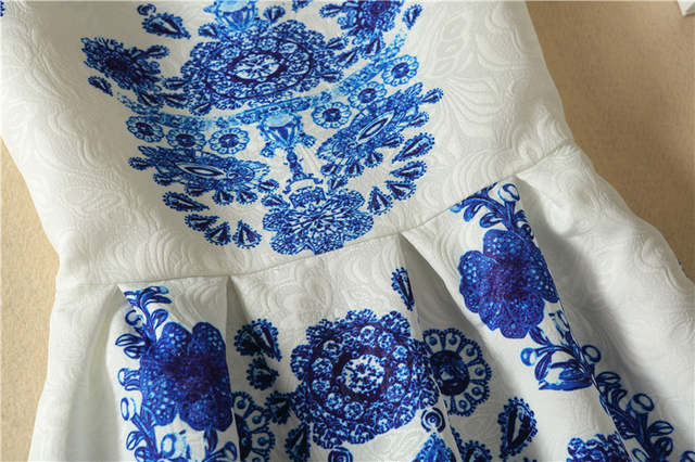 3d9d98d3343ca US $12.33 5% OFF|2019 New blue and white dress / Owl / Castle / flower  print dress Sleeveless Women Summer Style Dres Bottoming Dress-in Dresses  from ...