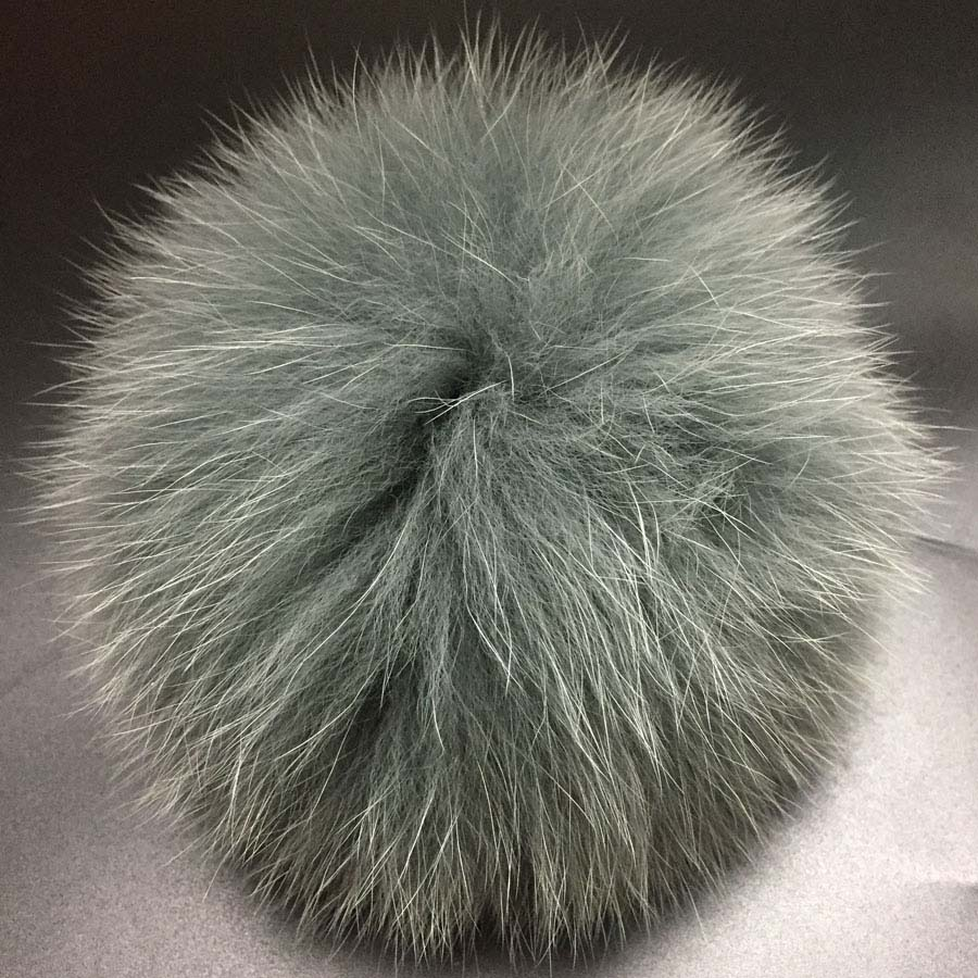 1043518ff US $7.35 51% OFF DIY 14 15cm big Fox Fur pompoms Elegant Fur balls for  knitted hat cap winter beanies and keychain and scarves real fur pom  poms-in ...