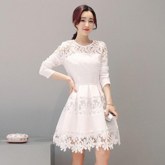 White Lace Dresses Women