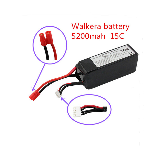 Hot sell Walkera Lipo Battery 11.1V 5200Mah 3S 15C For Walkera QR X350 PRO RC FPV Drone Quadcopter Helicopter Bateria Lipo