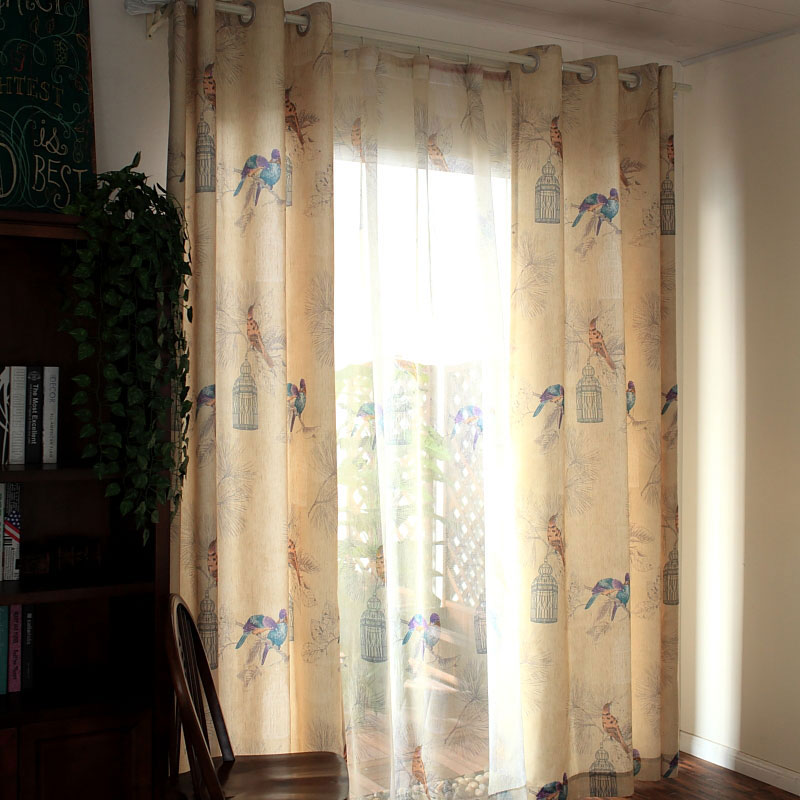 Blackout Curtains For Living Room American Rustic