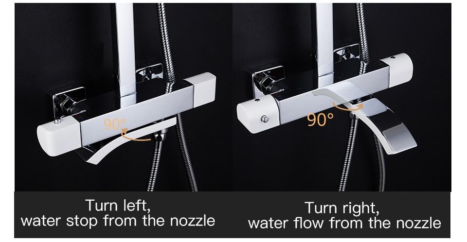 HTB1B1XqaND1gK0jSZFyq6AiOVXal GAPPO thermostatic shower set rain shower set shower faucet hot and cold Shower faucet Bathtub thermostatic shower mixer