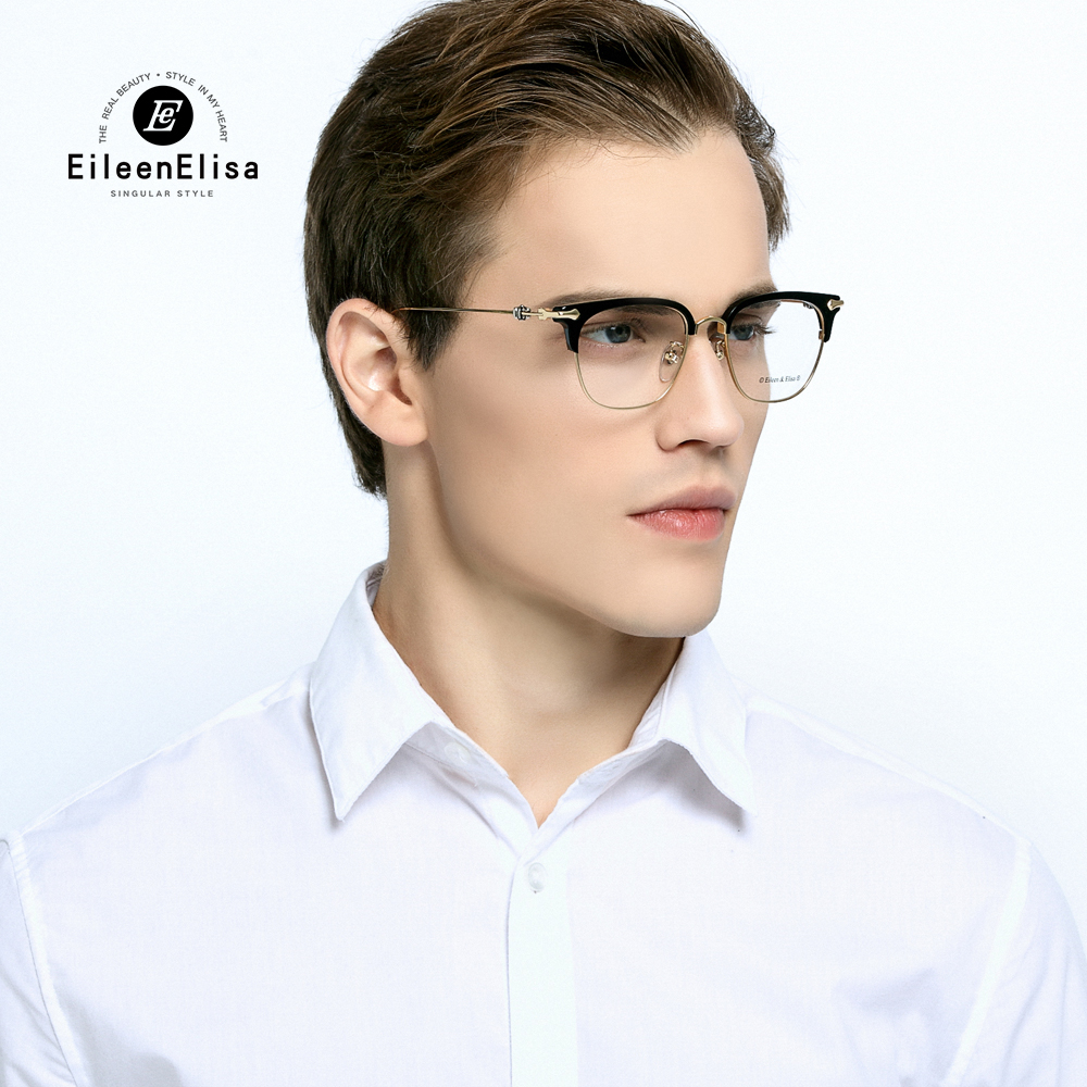 EE Hot Optical Myopia Glasses Clear Lens Eyewear Acetate Glasses Frame Men Glasses Frame Branded Half Frame Glasses new hot fashion unisex women men hipster vintage retro classic half frame glasses clear lens nerd eyewear 4 colors
