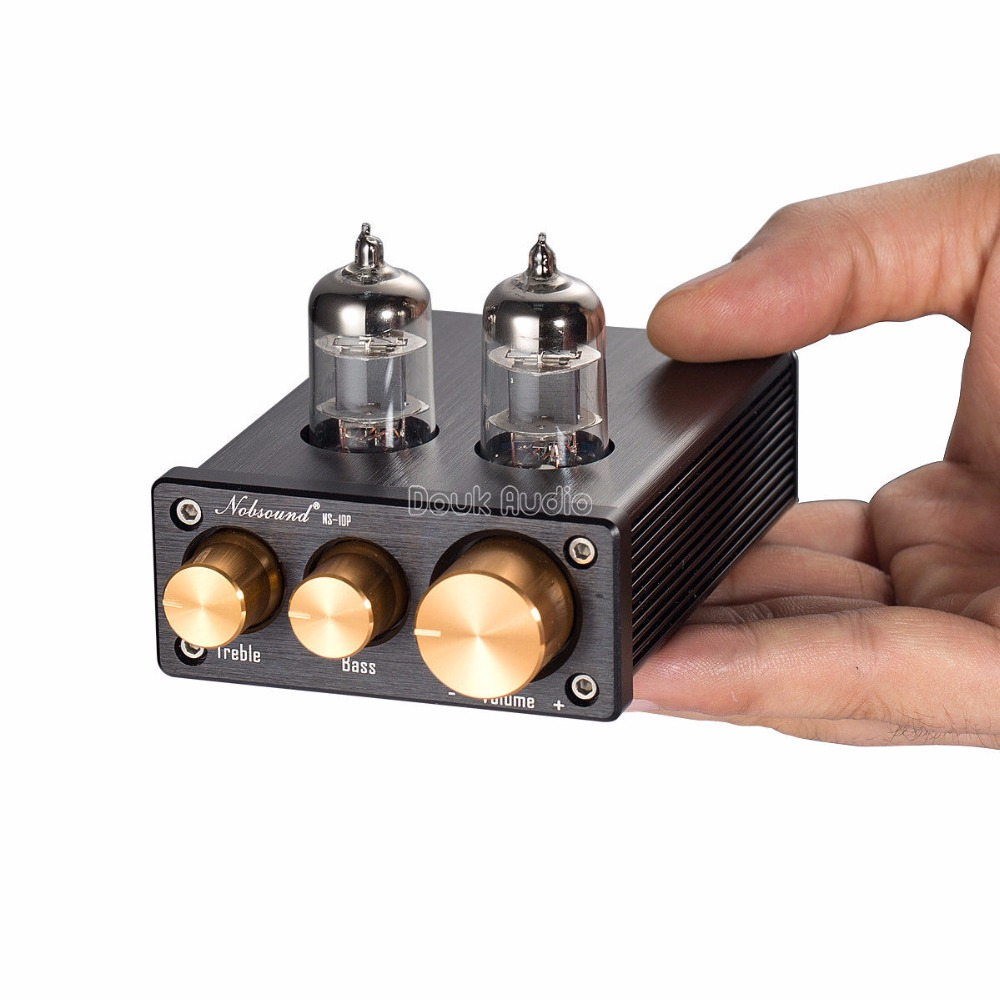 2018 Douk Audio HiFi 6J1 Tube Preamplifier 3.5mm Stereo Class A Mini Pre-Amp For Digital Power Amplifier / Integrated Amp 3206 amplifier aluminum rounded chassis preamplifier dac amp case decoder tube amp enclosure box 320 76 250mm